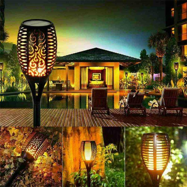 Led Solar Torch Dance Flickering Flame Light Garden Yard Lawn Waterproof Lamp (19)
