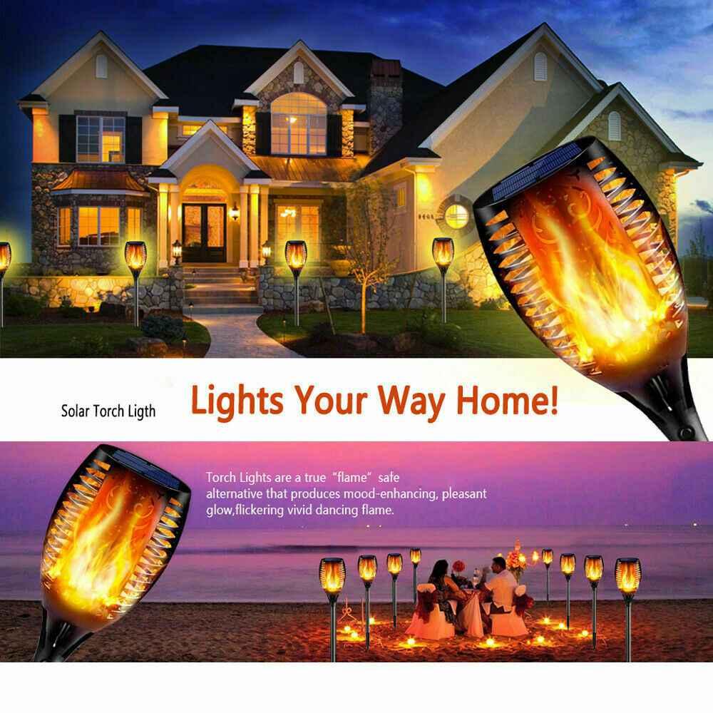 Led Solar Torch Dance Flickering Flame Light Garden Yard Lawn Waterproof Lamp (21)
