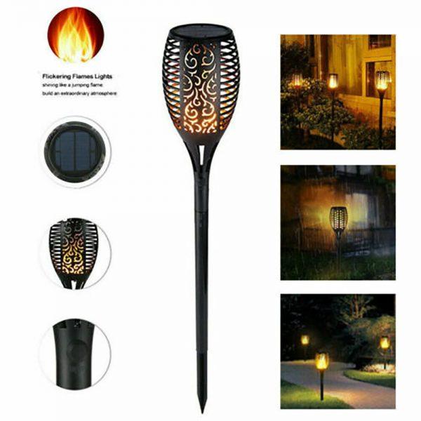 Led Solar Torch Dance Flickering Flame Light Garden Yard Lawn Waterproof Lamp (3)