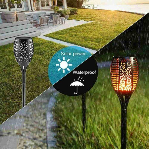 Led Solar Torch Dance Flickering Flame Light Garden Yard Lawn Waterproof Lamp (5)
