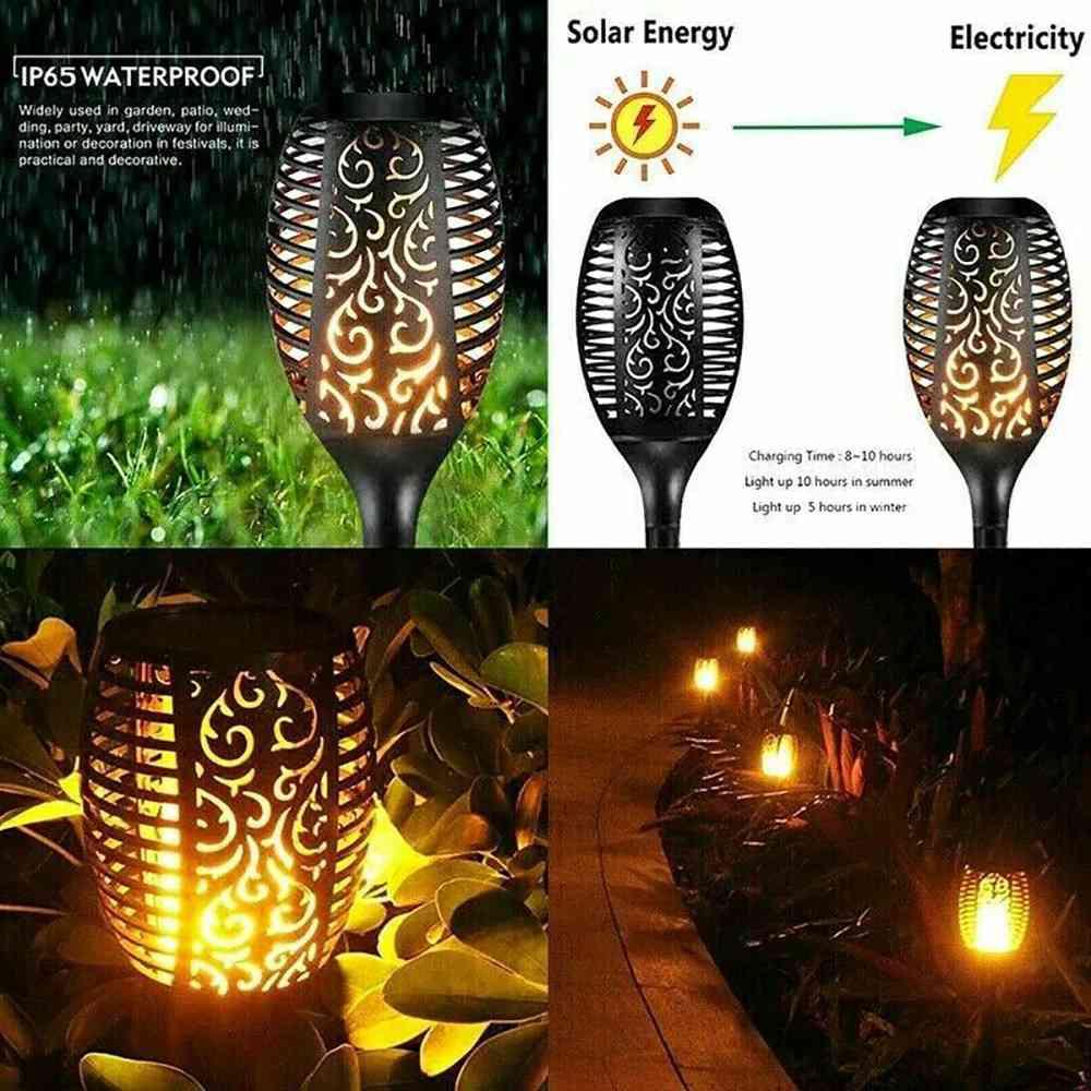 Led Solar Torch Dance Flickering Flame Light Garden Yard Lawn Waterproof Lamp (6)