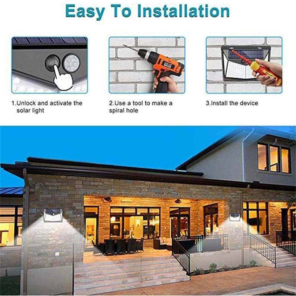 Led Solar Sensor Wall Light Waterproof Garden Outdoor Led Wall Motion Sensor Lights (1)