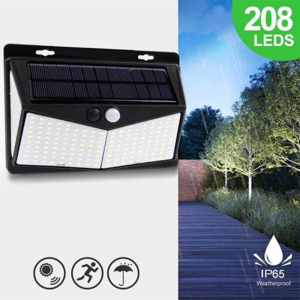 Led Solar Sensor Wall Light Waterproof Garden Outdoor Led Wall Motion Sensor Lights (10)