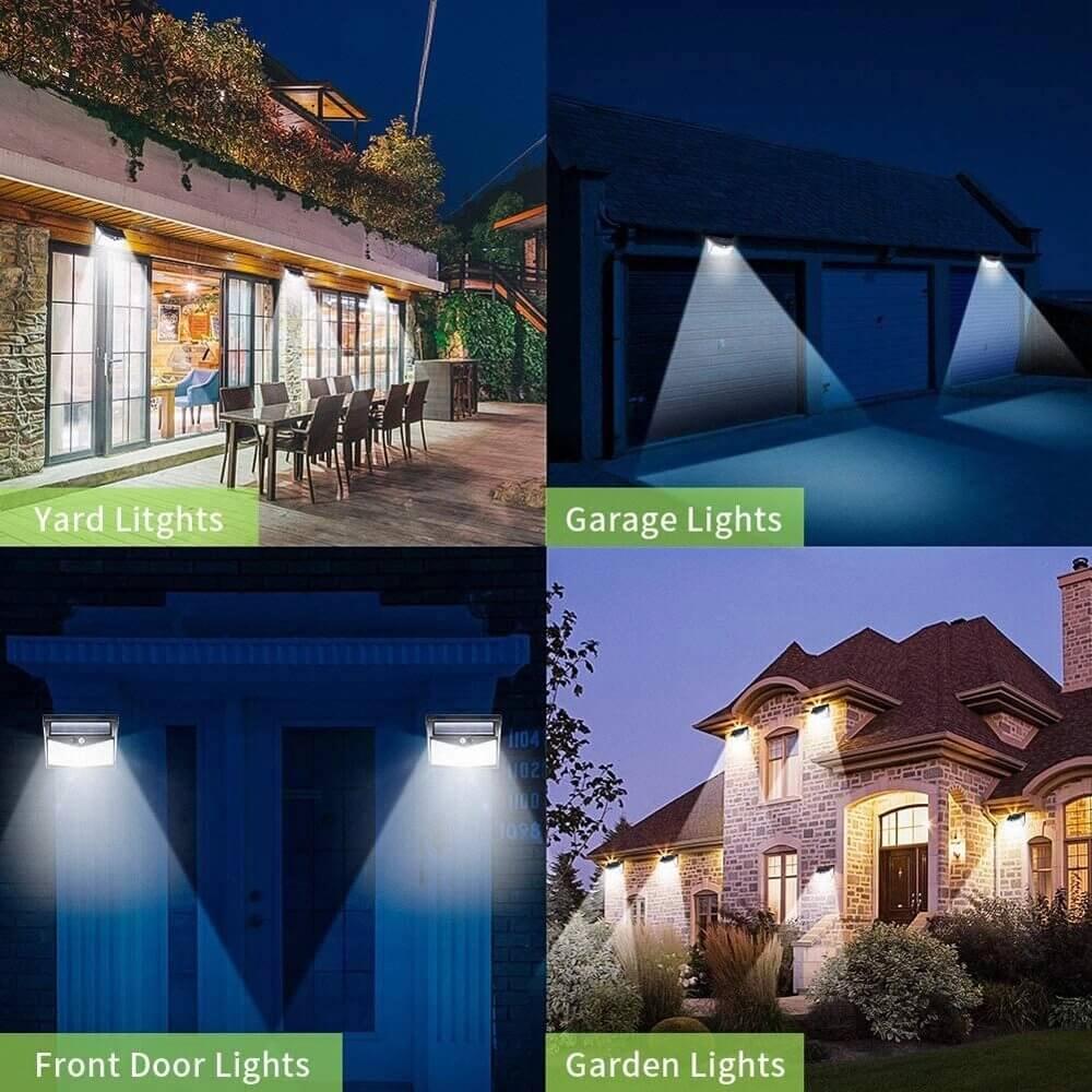 Led Solar Sensor Wall Light Waterproof Garden Outdoor Led Wall Motion Sensor Lights (11)