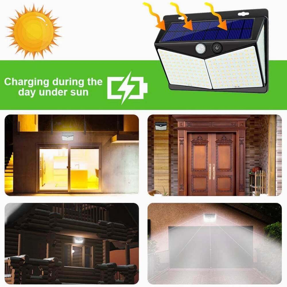 Led Solar Sensor Wall Light Waterproof Garden Outdoor Led Wall Motion Sensor Lights (2)