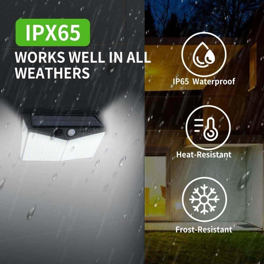 Led Solar Sensor Wall Light Waterproof Garden Outdoor Led Wall Motion Sensor Lights (6)
