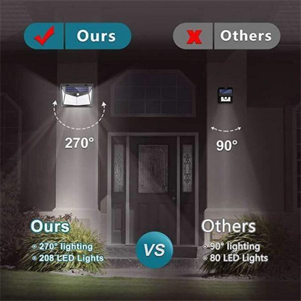 Led Solar Sensor Wall Light Waterproof Garden Outdoor Led Wall Motion Sensor Lights (9)