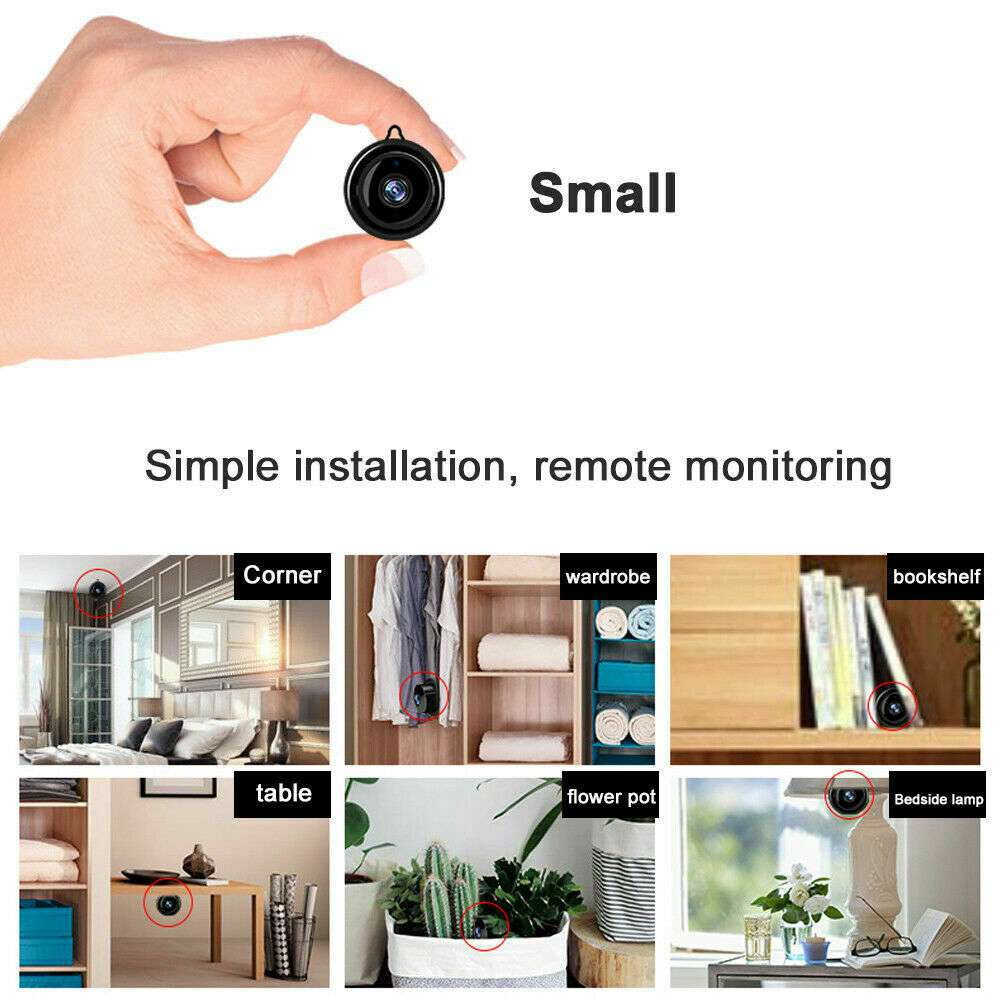 Mini Spy Ip Camera Home Security 1080p Wireless Wifi Cctv Indoor & Outdoor (25)