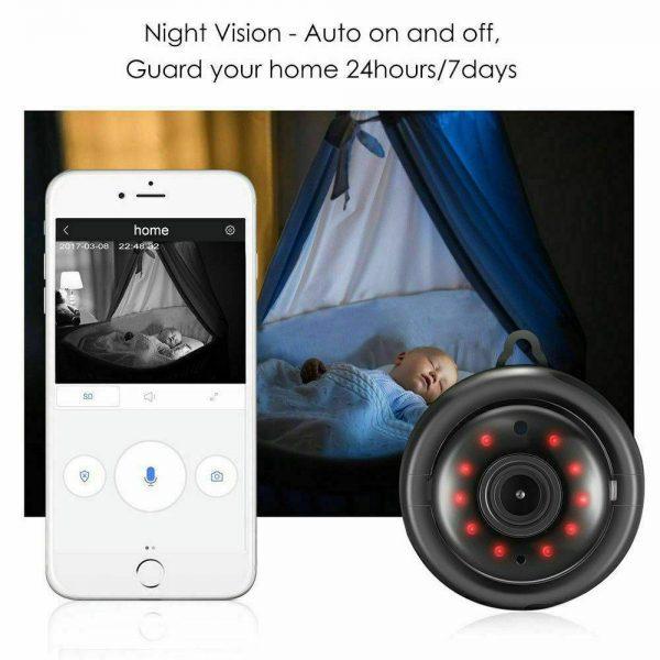 Mini Spy Ip Camera Home Security 1080p Wireless Wifi Cctv Indoor & Outdoor (26)