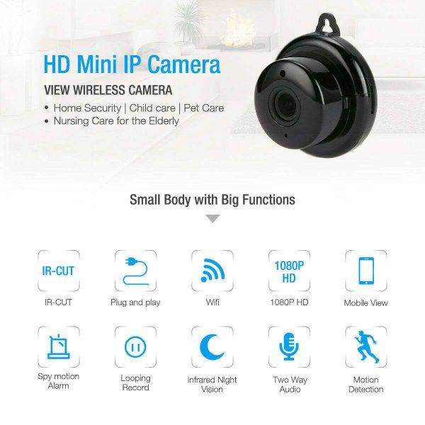 Mini Spy Ip Camera Home Security 1080p Wireless Wifi Cctv Indoor & Outdoor (29)