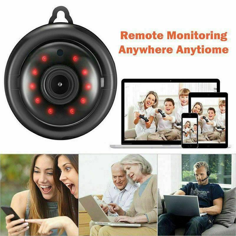 Mini Spy Ip Camera Home Security 1080p Wireless Wifi Cctv Indoor & Outdoor (7)