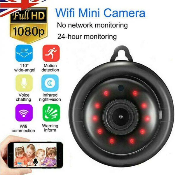 Mini Spy Ip Camera Home Security 1080p Wireless Wifi Cctv Indoor & Outdoor