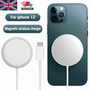 Magsafe Wireless Charger 15w Fast Charge Pad Magnetic For Iphone 12 Pro Max Uk (1)