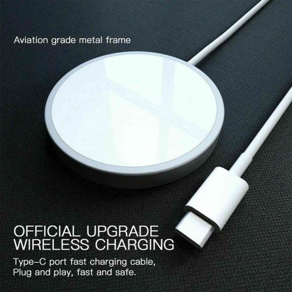 Magsafe Wireless Charger 15w Fast Charge Pad Magnetic For Iphone 12 Pro Max Uk (13)