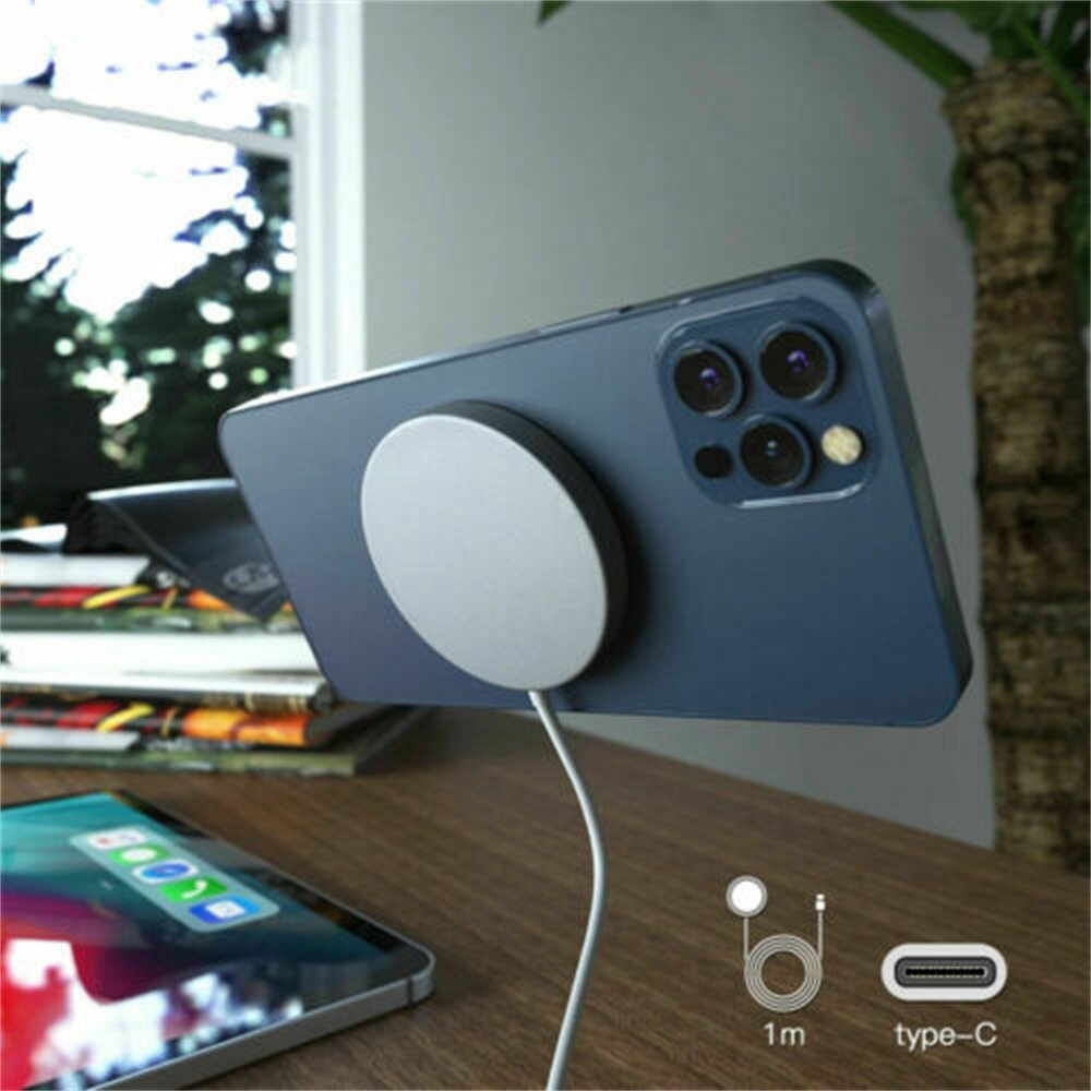 Magsafe Wireless Charger 15w Fast Charge Pad Magnetic For Iphone 12 Pro Max Uk (3)