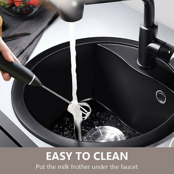 Milk Frother Electric Usb Charging Mixer 3 Speed Portable Coffee Egg Beater Tool (14)