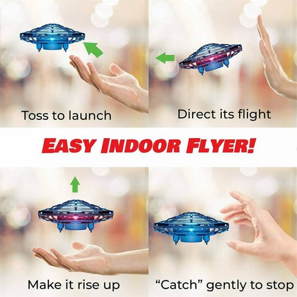 Mini Drone Smart Ufo Aircraft For Kids Flying Toys 360° Rc Hand Control Xmas (2)