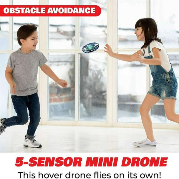Mini Drone Smart Ufo Aircraft For Kids Flying Toys 360° Rc Hand Control Xmas (5)