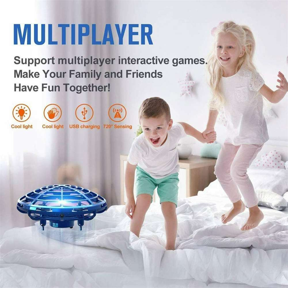 Mini Drone Smart Ufo Aircraft For Kids Flying Toys 360° Rc Hand Control Xmas (7)