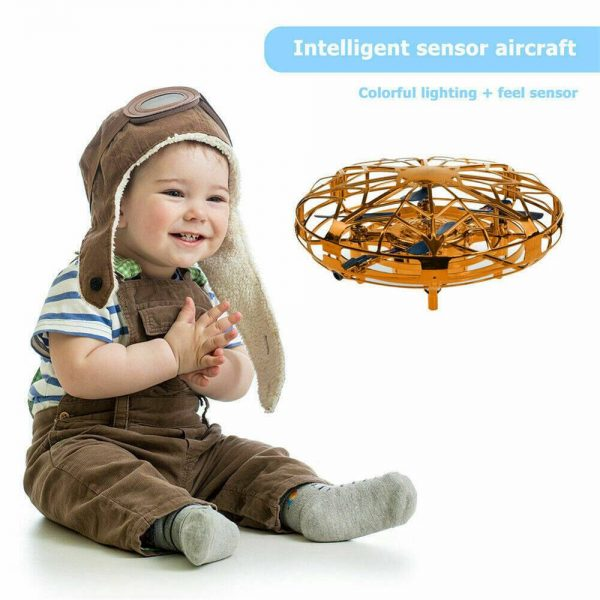 Mini Drone Smart Ufo Aircraft For Kids Flying Toys 360° Rc Hand Control Xmas (8)