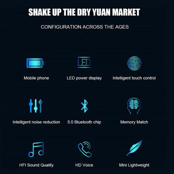 Mini Earbuds Headset Waterproof Tws Bluetooth 5.0 Earphones (11)