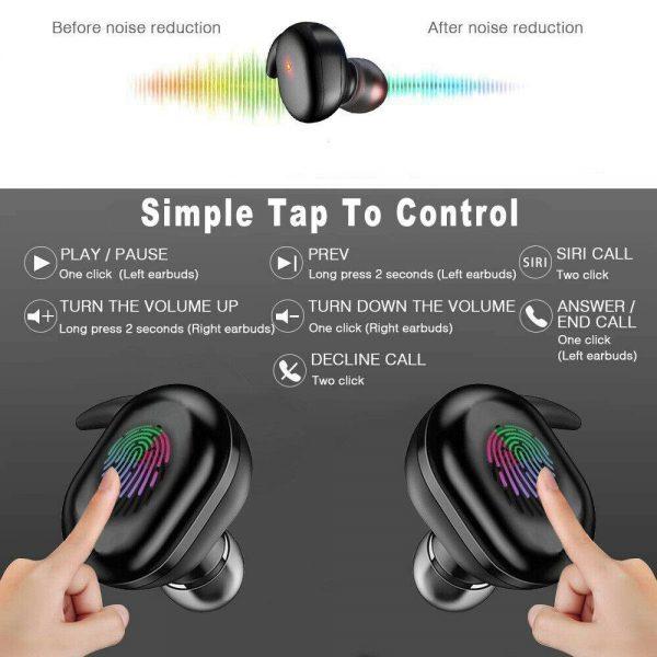 Mini Earbuds Headset Waterproof Tws Bluetooth 5.0 Earphones (12)