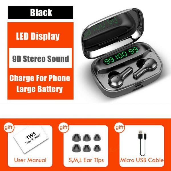 Mini Earbuds Headset Waterproof Tws Bluetooth 5.0 Earphones (16)