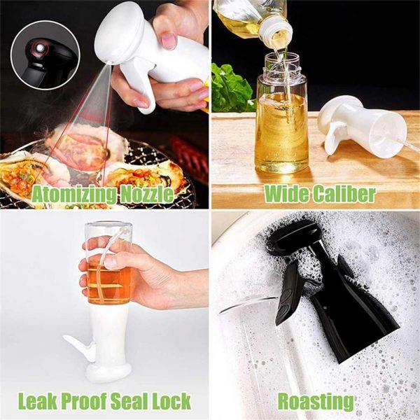 Olive Oil Sprayer Cooking Mister Dispenser Spray Bottle Kitchen 210ml Cooking (2)