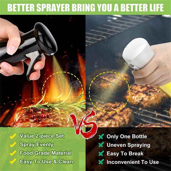 Olive Oil Sprayer Cooking Mister Dispenser Spray Bottle Kitchen 210ml Cooking (3)