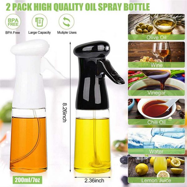 Olive Oil Sprayer Cooking Mister Dispenser Spray Bottle Kitchen 210ml Cooking (5)