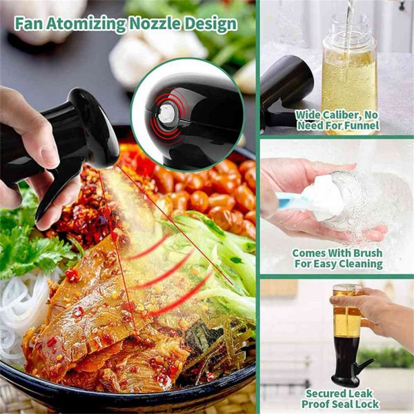 Olive Oil Sprayer Cooking Mister Dispenser Spray Bottle Kitchen 210ml Cooking (9)