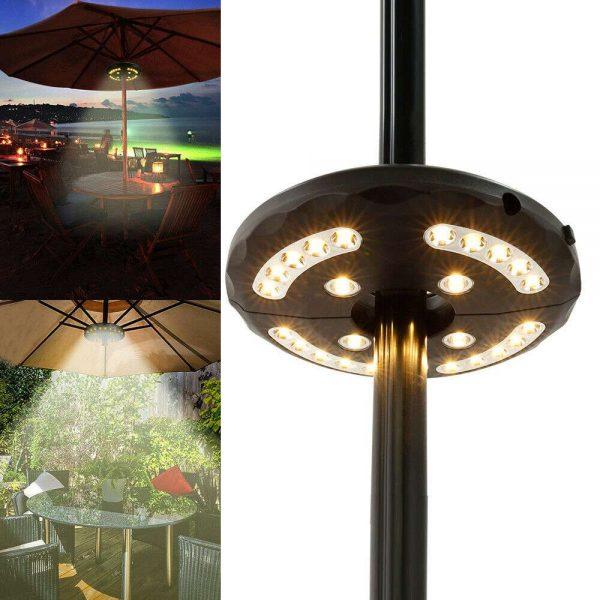 Patio Umbrella Parasol Light Camping Lamp Garden Outdoor 3 Brightness Mode 28led (11)