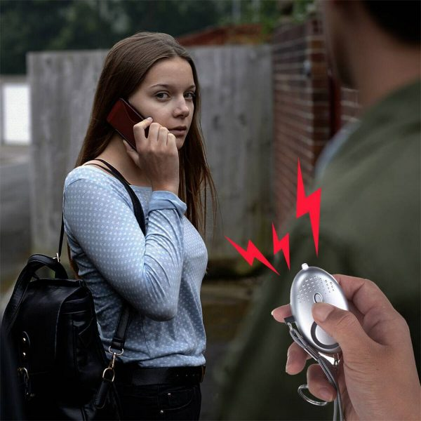 Personal Alarm Safe Sound Keychain With Led Light 140db Emergency Women Defense (11)
