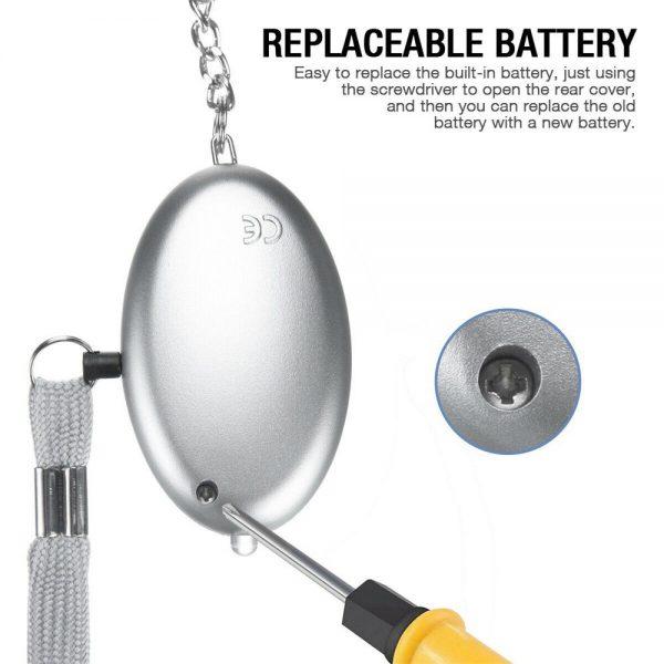 Personal Alarm Safe Sound Keychain With Led Light 140db Emergency Women Defense (5)