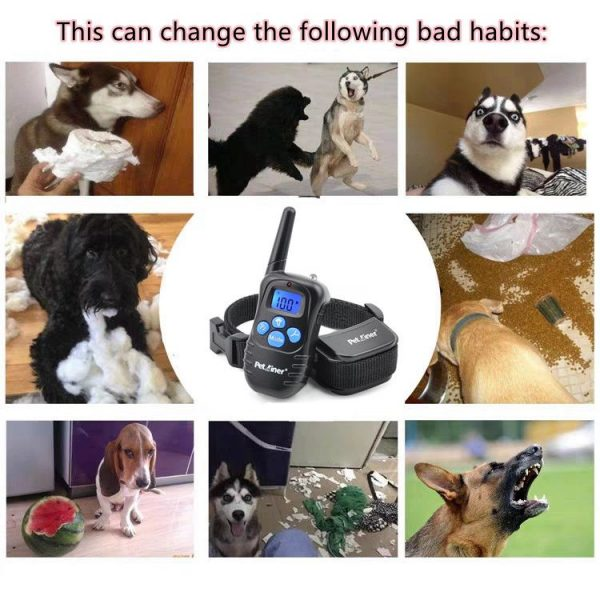 Pet Dog Training Collar Lcd Electric Shock Anti Bark Single Dog And Double Dog (22)