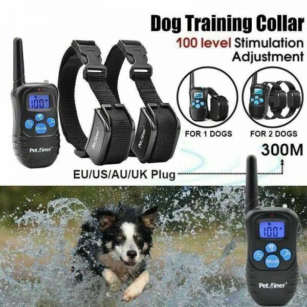 Pet Dog Training Collar Lcd Electric Shock Anti Bark Single Dog And Double Dog (24)