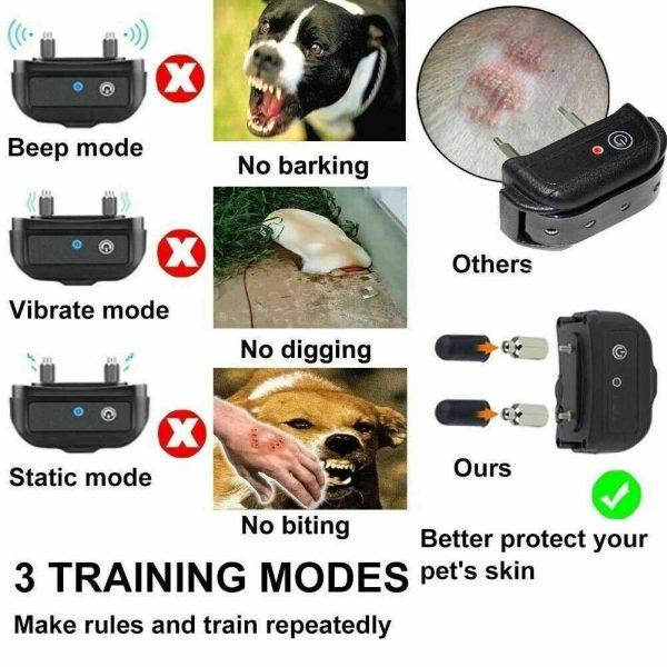 Pet Dog Training Collar Lcd Electric Shock Anti Bark Single Dog And Double Dog (25)