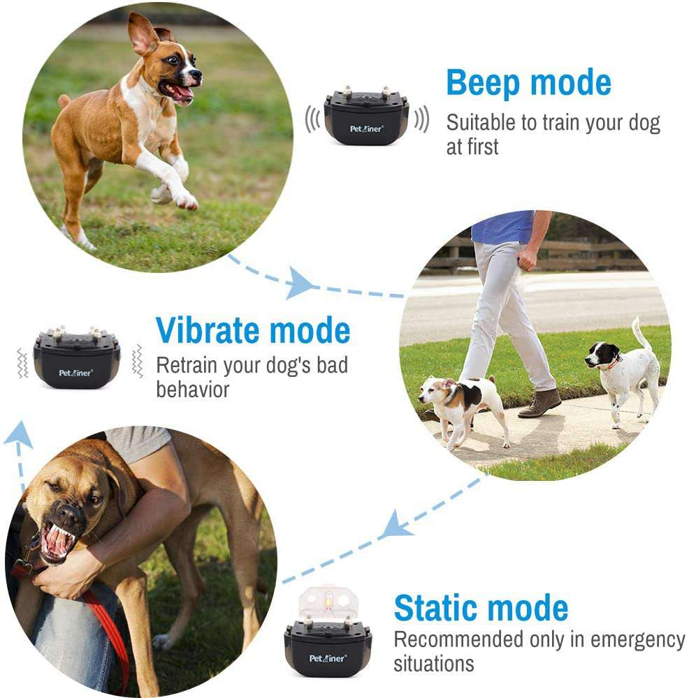 Pet Dog Training Collar Lcd Electric Shock Anti Bark Single Dog And Double Dog (4)