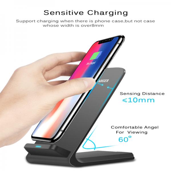 Platform Desktop Bracket 10w Wireless Charger Base Fast Charging Portable Desk Stand (1)