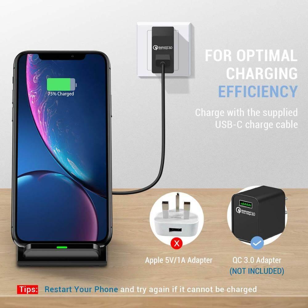 Platform Desktop Bracket 10w Wireless Charger Base Fast Charging Portable Desk Stand (4)