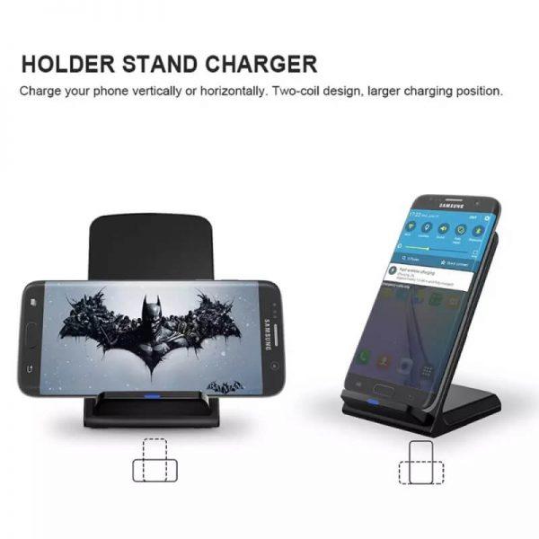 Platform Desktop Bracket 10w Wireless Charger Base Fast Charging Portable Desk Stand (5)