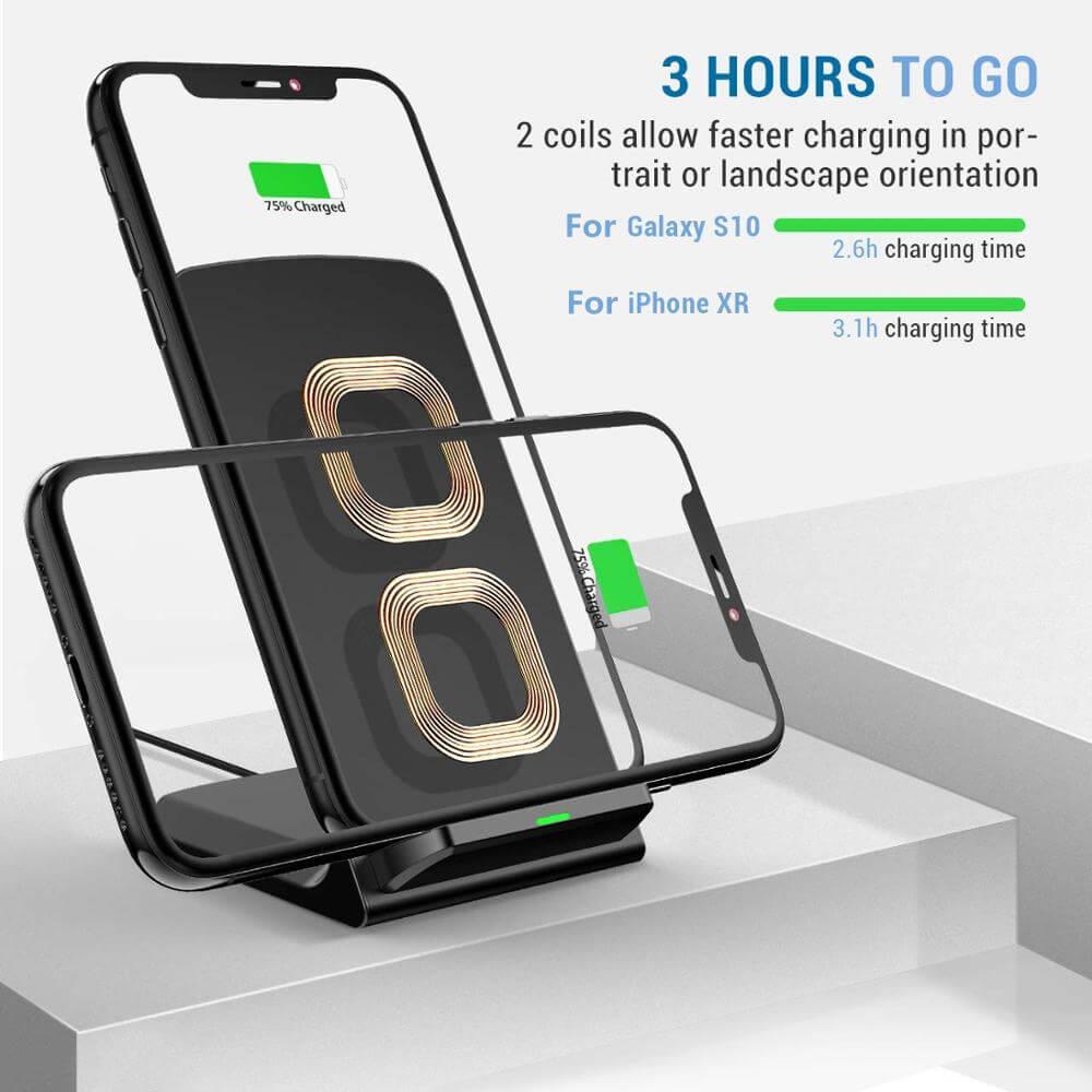 Platform Desktop Bracket 10w Wireless Charger Base Fast Charging Portable Desk Stand (6)