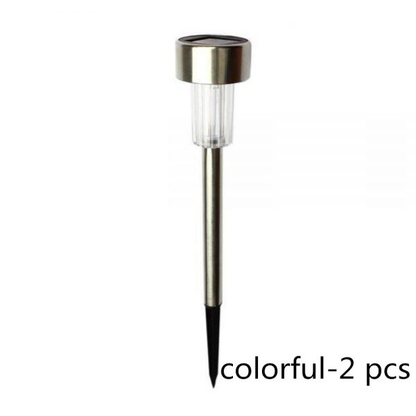Sar Power Garden Light Waterproof Outdoor Pathway Stick 2510 Packs All In One Stainless Steel Pole 11 副本