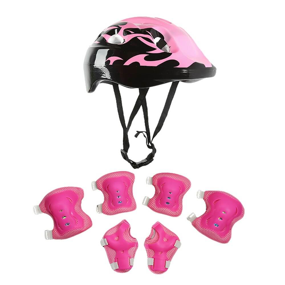 Skating Roller Skating Helmets Safety Bike Helmet Knee Elbow Protective Gear Set (13)
