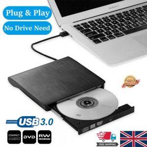 Slim External Usb 3.0 Dvd Rw Cd Writer Drive Burner Reader Player For Laptop Pc (1)