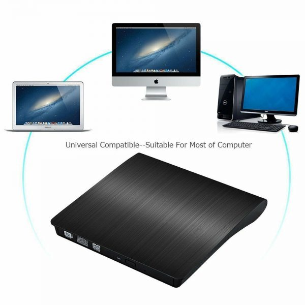 Slim External Usb 3.0 Dvd Rw Cd Writer Drive Burner Reader Player For Laptop Pc (16)