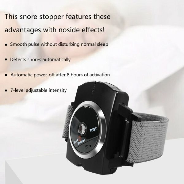 Snore Stopper Sleep Connection Anti Snore Wristband Bracelet Device Stop Snoring (13)