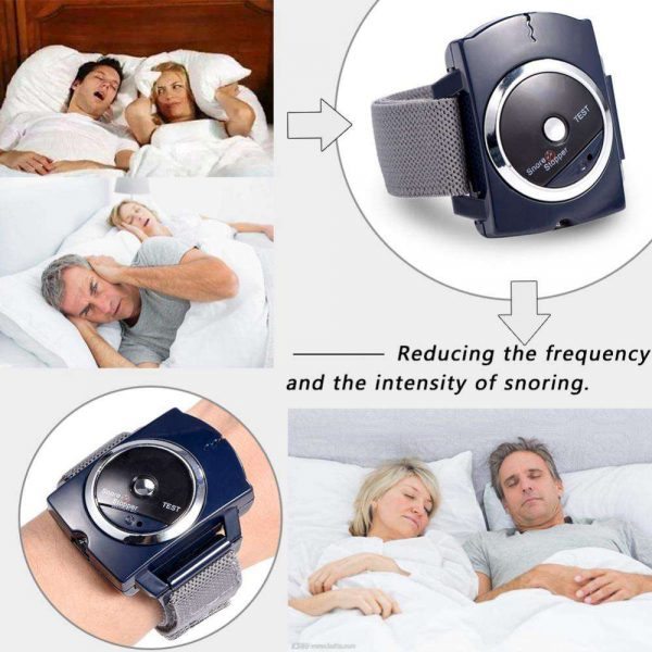 Snore Stopper Sleep Connection Anti Snore Wristband Bracelet Device Stop Snoring (2)