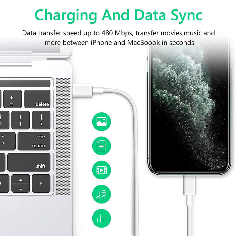 Usb C 18w Pd Fast Charging Type C Usb Data Cable Charger Wire Phone Data Cables (7)