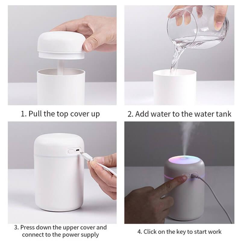 Usb Mini Ultrasonic Air Humidifier Portable Humidifier Air Freshener Perfume Automatic Humidifier (9)